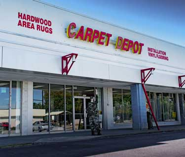 The Outside of Carpet Depot store in Douglasville, GA