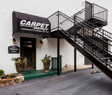 The Outside of Carpet Depot store in Roswell, GA