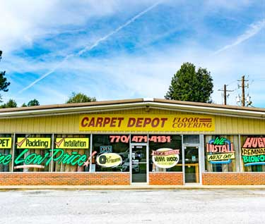 The Outside of Carpet Depot store in Jonesboro, GA