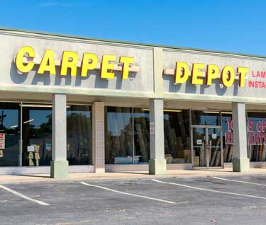 The Outside of Carpet Depot store in Mableton, GA